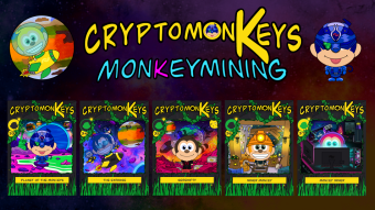 cryptomonKeys Update #14: monKeymining-Earn NFTs by Playing the Game AlienWorlds