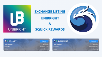 Exchange Listing - Unibright (UBT) and QUICK Rewards