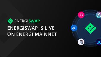 Energiswap Is Live on Energi Mainnet