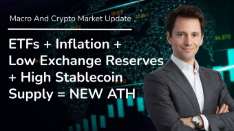 ETFs + Inflation + Low Exchange Reserves + High Stablecoin Supply = NEW ATH - Daily Macro And Crypto Update