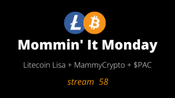 Mommin It Mondays Catch up episode October 4th guest @CryptoCrusader1 $PAC
