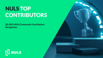 Rewards Announcement of the Q3 NULS Community Contributor election