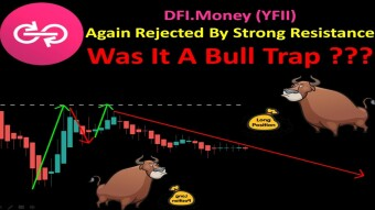 DFI.Money (YFII) Again Rejected By Strong Resistance | Was It A Bull Trap ???