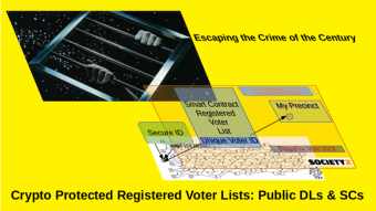 Crypto Protected Voter Registration Lists :SOVRINTown and IOTA