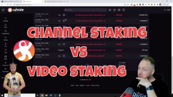 Odysee/LBRY TV Experiment📊: Staking Videos VS Staking Your Odysee Channel