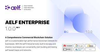 aelf Enterprise v1.0.0 RC 1 Officially Released