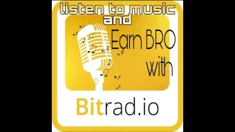 Earn Cryptocurrency (BRO) while listening to music on Bitrad.io
