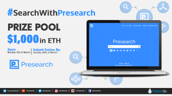 #SearchWithPresearch Writing Contest and Twitter Giveaway - $1,000 in ETH Prizes!