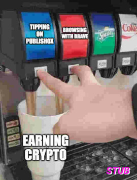Earning crypto by tipping on Publish0x and browsing with Brave
