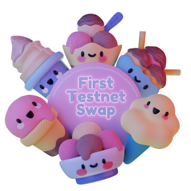 First Testnet Swap NFT (Picture: SundaeSwap)