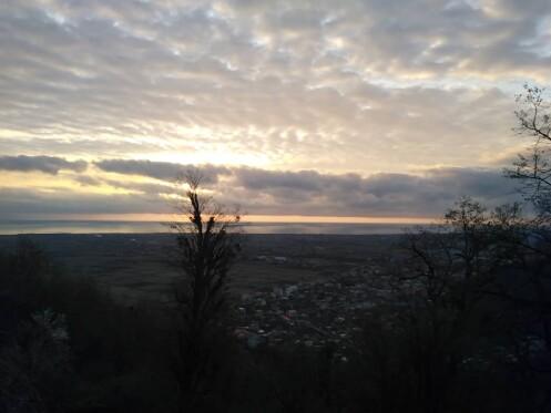 Hiking at Dawn