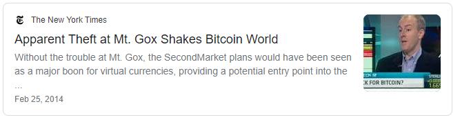 Mt. Gox shakes Bitcoin World - The New York Times
