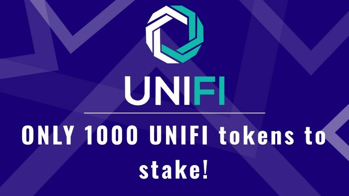 We hear what our community wants, and we truly appreciate the underdog – the small bag holders – and in a show of respect for that, we've reduced the amount of UNIFI DeFi tokens needed to stake!