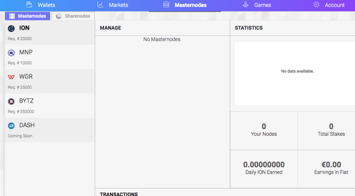 Masternodes hosted