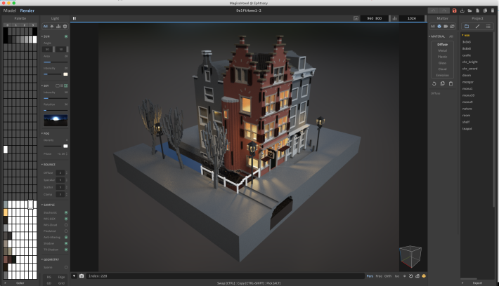 Magica Voxel image of Delft by Tim Coster