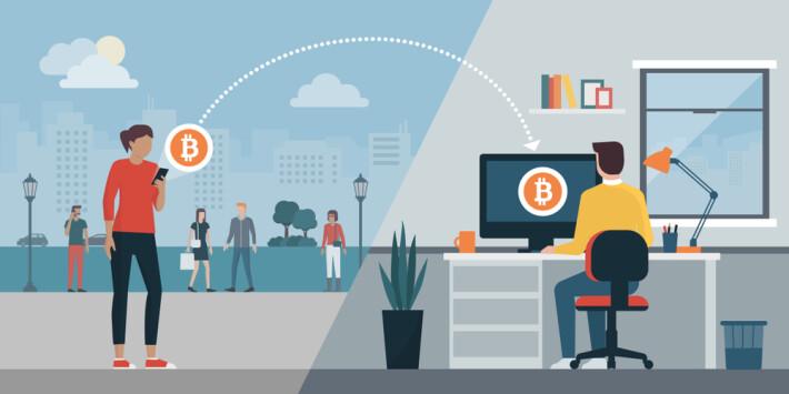 bitcoin crypto blockchain sharing money lending