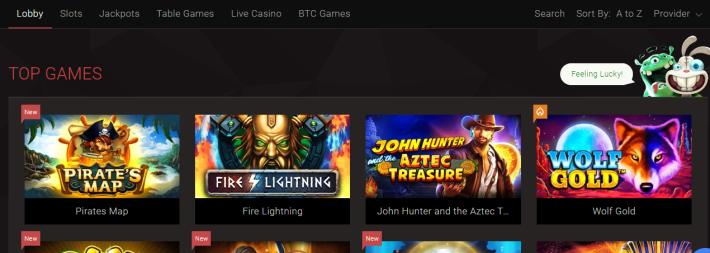 Bitstarz games variety