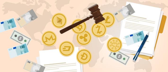 bitcoin crypto blockchain law regulation hammer