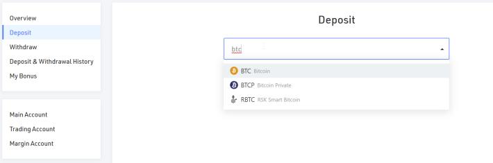Select BTC