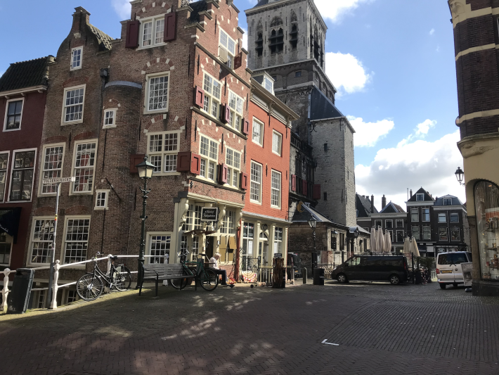 Blue skies over Delft during the Corona crisis. March 2020