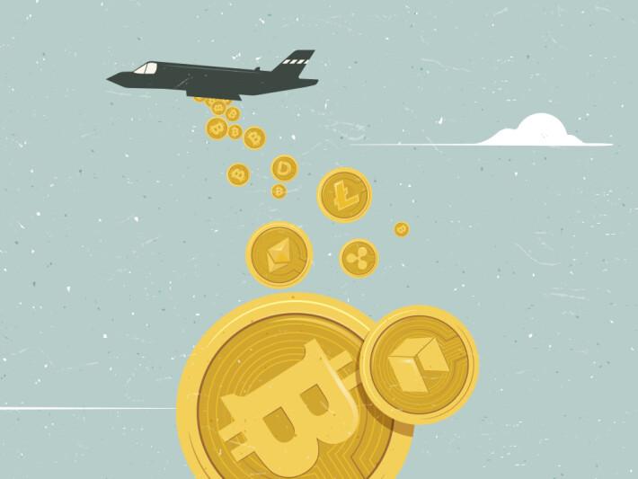 bitcoin crypto blockchain transaction speed plane bomber slow fast