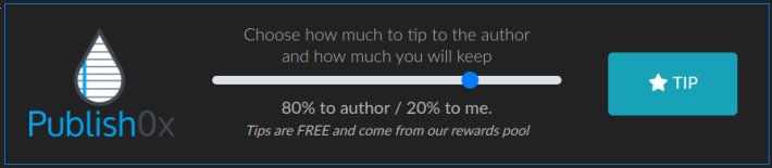 The now Famous Publish0x Slidebar