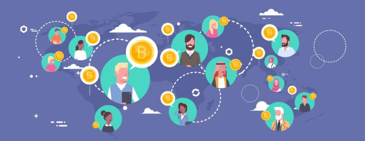 bitcoin crypto blockchain finance global economy humanity humans happy sharing