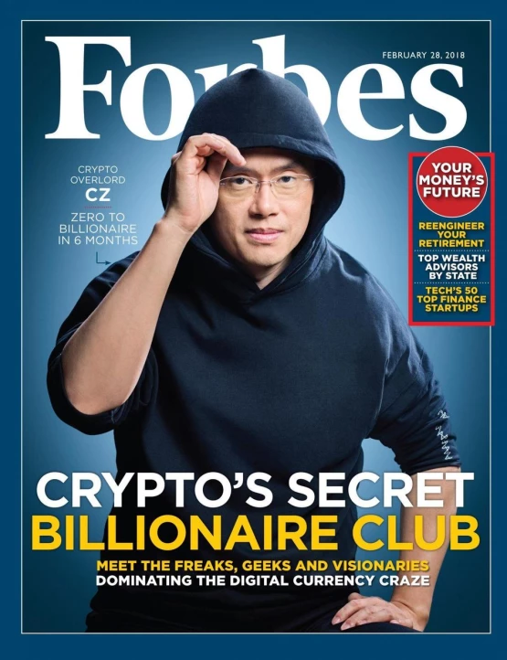 Binance CEO CZ Forbes