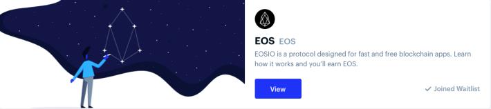 Coinbase Earn EOS