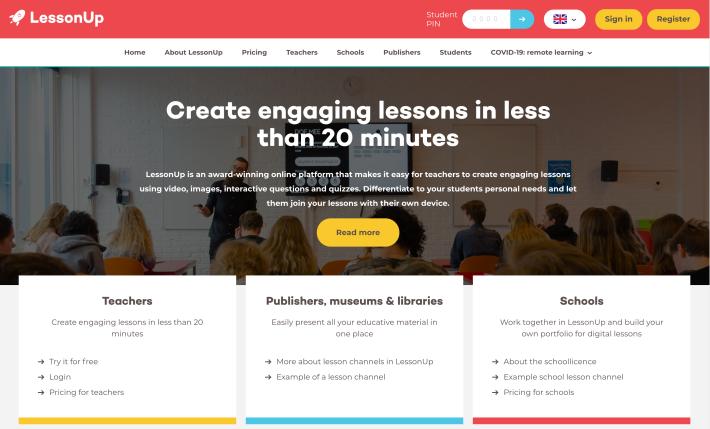 LessonUp website image