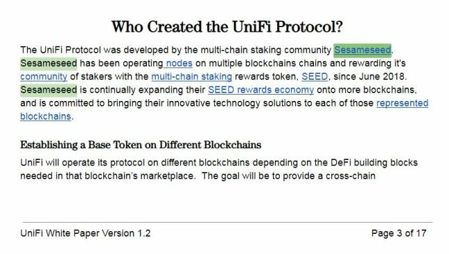 Unifi Protocol SesameSeed