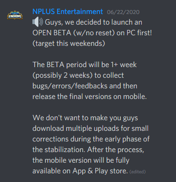 nplus entertainment and the open beta announcement