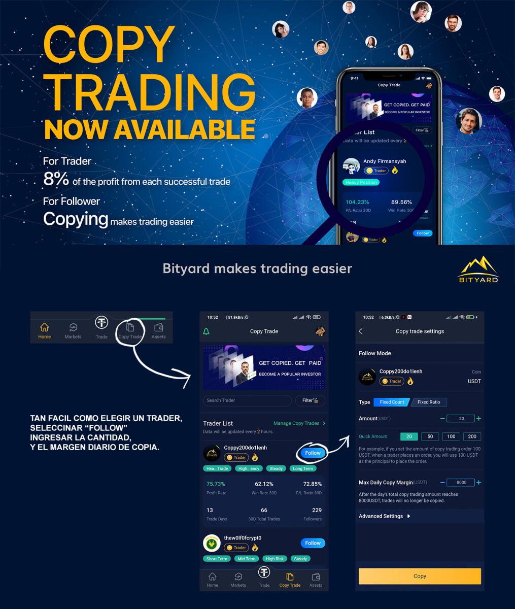 Bityard el copy trading