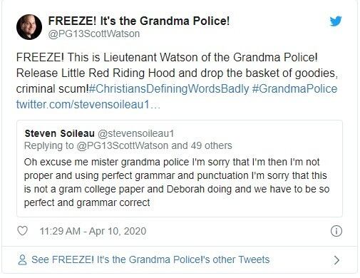 Fig. 2: Lieutenant Watson of the Grandma Police, Reporting for Duty (And Cheek-Pinches)!