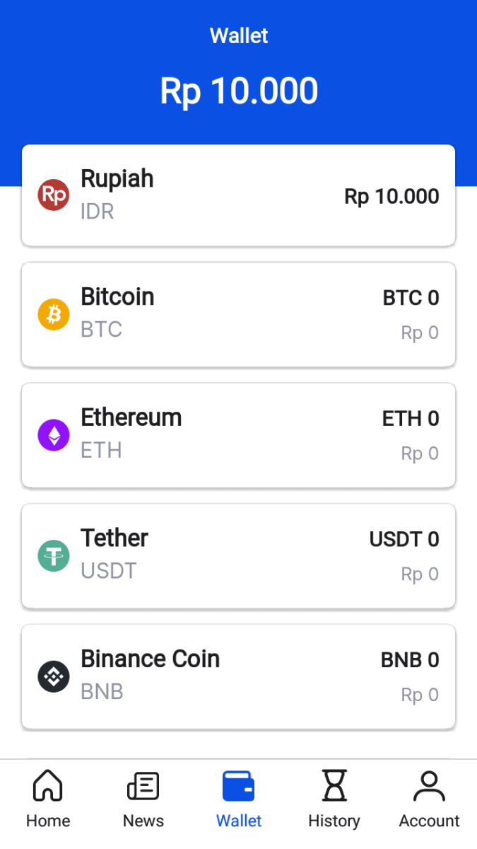 image of Pintu's supported cryptocurrencies