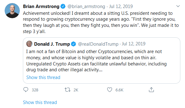 Brain Armstrog- CEO and Founder of Coinbase