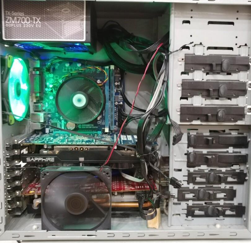2 GPU rig in ATX