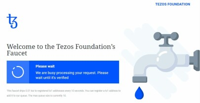 Tezos Foundation's Faucet Processing