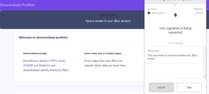 Accessing 3box profile
