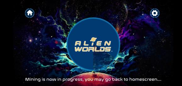 Screenshot of Alien Worlds