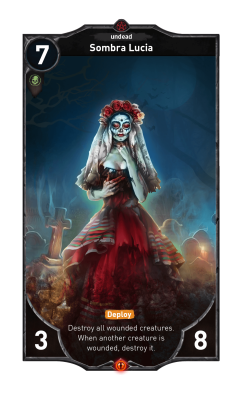 Sombra Lucia card - Dark Country game