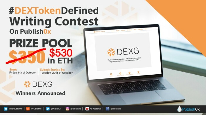 dextokendefined winners