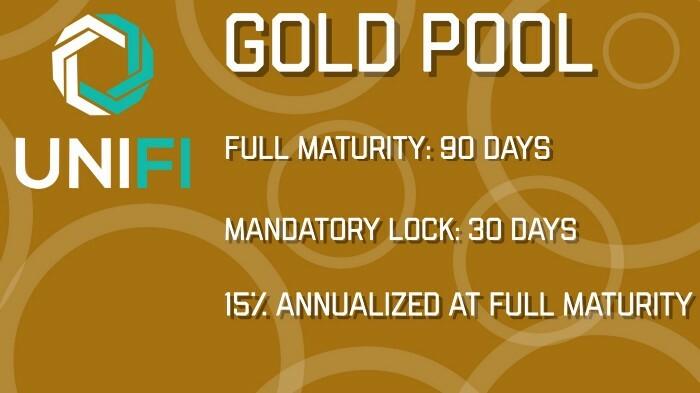 Gold Pool size: 750,000 UNIFI DeFi