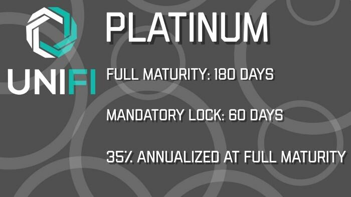 Platinum Pool size: 750,000 UNIFI DeFi