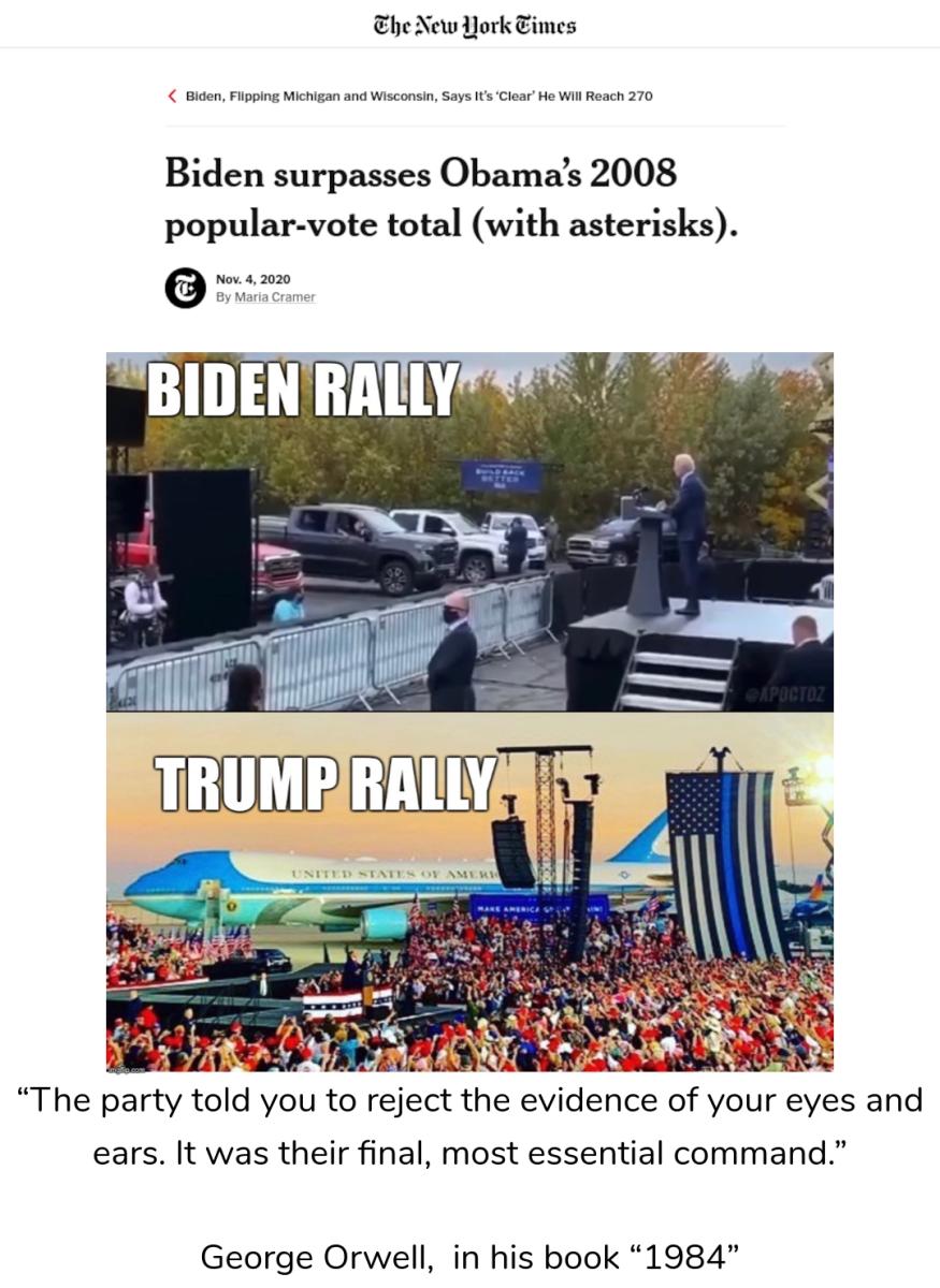 2020 election orwell trump biden