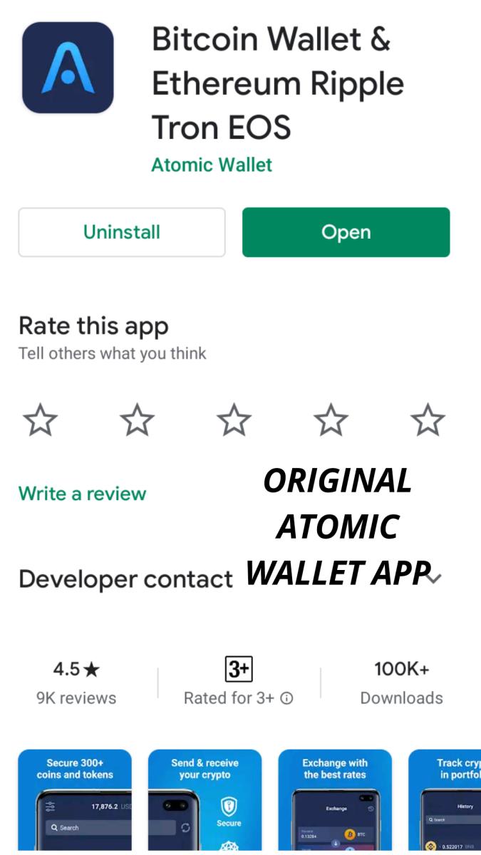 Original Atomic Wallet app