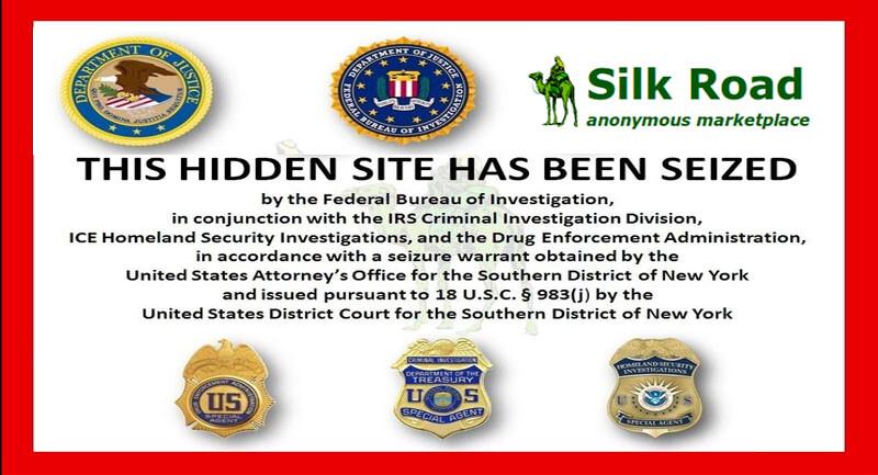 Silk Road website Siezed