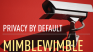 Privacy by default: MimbleWimble