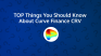 Top Things You Should Know About Curve (CRV)