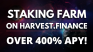 How to Stake and Earn FARM on Harvest.Finance